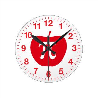 Apple Pi Round Clock