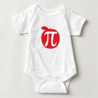 Apple Pi Symbol Baby Bodysuit