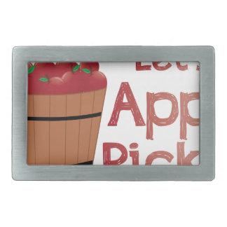 Apple Pickin Hebillas De Cinturon Rectangulares
