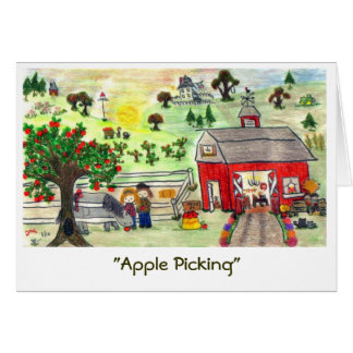 """Apple Picking"" (A) Card"