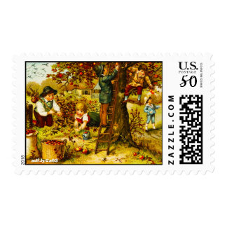 Apple Picking in Autumn U.S. Postage Stamps