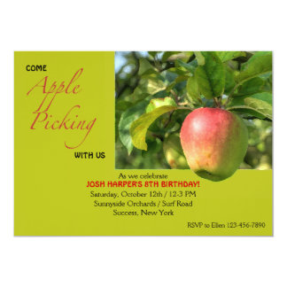 "Apple Picking Invitation 5"" X 7"" Invitation Card"