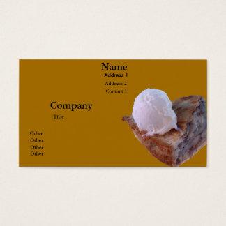 Apple pie a la mode business card