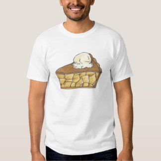 Apple Pie a la Mode Ice Cream Fruit Pies Slice Tee Shirt