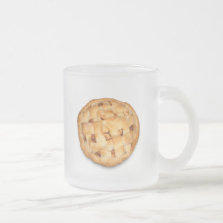 Apple Pie (Add Background Color) 10 Oz Frosted Glass Coffee Mug
