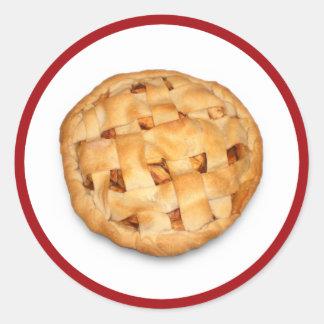 Apple Pie (Add Background Color) Classic Round Sticker