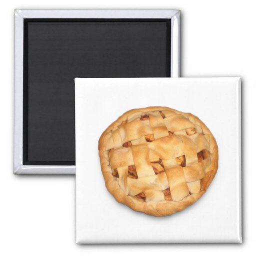 Apple Pie (Add Background Color) Fridge Magnet
