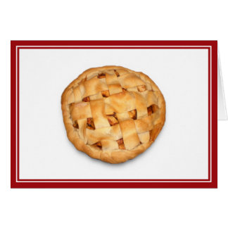 Apple Pie (Add Background Color) Greeting Card