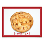 Apple Pie (Add Background Color) 4.25x5.5 Paper Invitation Card