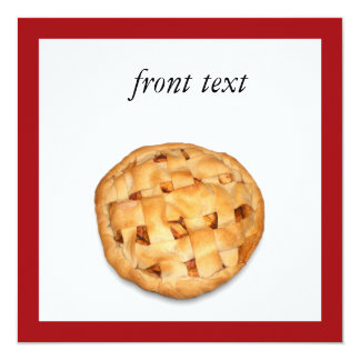 Apple Pie (Add Background Color) Invitation