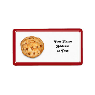 Apple Pie Add Background Color Personalized Address Label