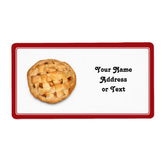 Apple Pie Add Background Color Custom Shipping Label