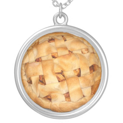 Apple Pie (Add Background Color) Necklace