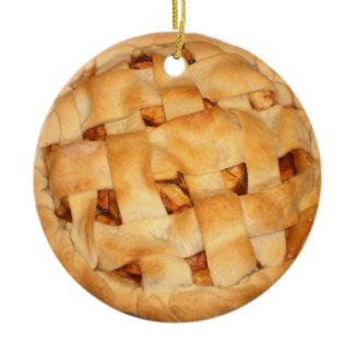 Apple Pie (Add Background Color) ornament
