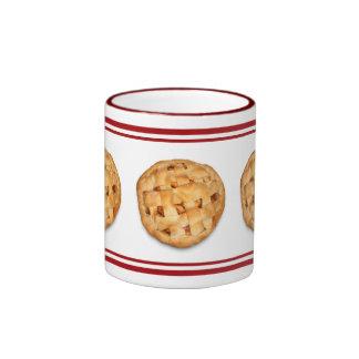 Apple Pie (Add Background Color) Ringer Coffee Mug
