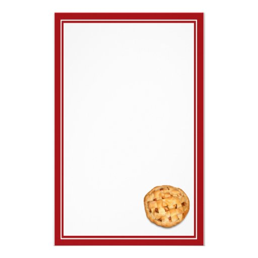 Apple Pie (Add Background Color) Stationery Design