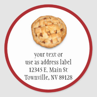 Apple Pie (Add Background Color) Classic Round Sticker