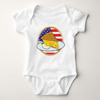 Apple Pie American Flag Baby Bodysuit