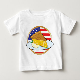 Apple Pie American Flag Baby T-Shirt