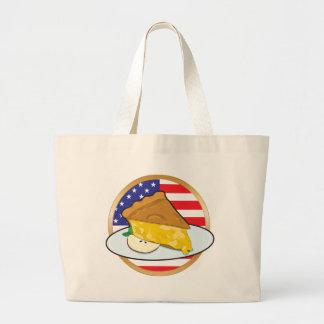 Apple Pie American Flag Canvas Bags