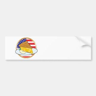 Apple Pie American Flag Car Bumper Sticker