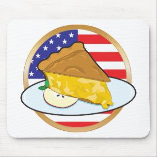 Apple Pie American Flag Mouse Mat