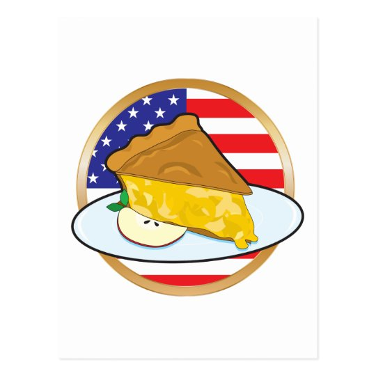 Apple Pie American Flag Postcard
