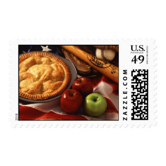 Apple Pie and Baseball Legal American Postage