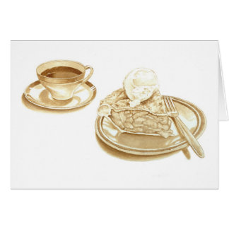 Apple Pie and Coffee Greeting Card