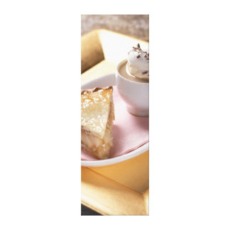 Apple pie and hot cocoa canvas print