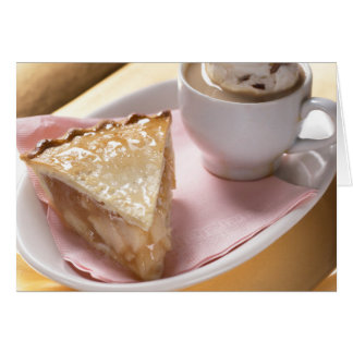 Apple pie and hot cocoa card
