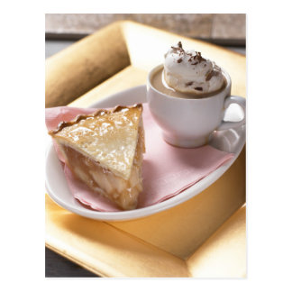 Apple pie and hot cocoa postcard