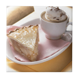 Apple pie and hot cocoa ceramic tiles
