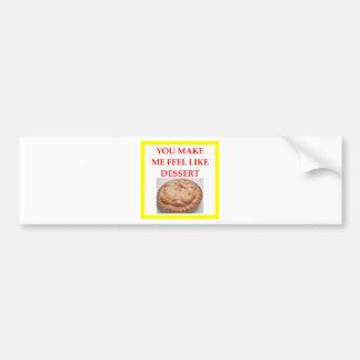 apple pie bumper sticker