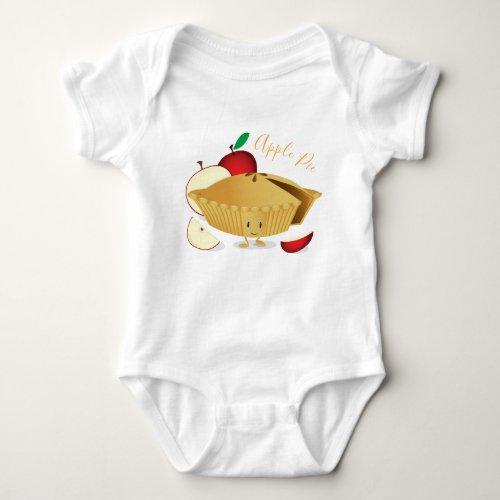 Apple Pie Character   Baby Bodysuit