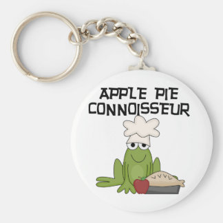 Apple Pie Connoisseur Tshirts and Gifts Basic Round Button Keychain