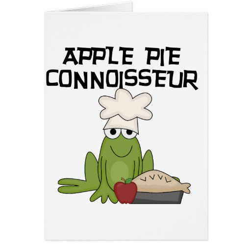 Apple Pie Connoisseur Tshirts and Gifts Card