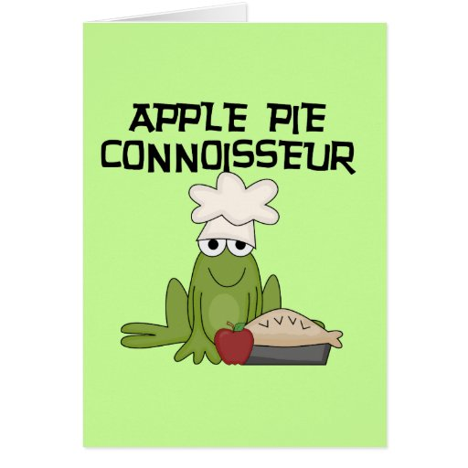 Apple Pie Connoisseur Tshirts and Gifts Greeting Card