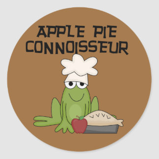 Apple Pie Connoisseur Tshirts and Gifts Classic Round Sticker
