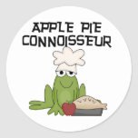 Apple Pie Connoisseur Tshirts and Gifts Round Stickers