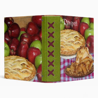 Apple Pie Cookbook Recipe Organizer 3 Ring Binder
