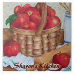 """Apple Pie - Customizable Tile<br><div class=""""desc"""">The image on this tile is taken from an original watercolor painting. This tile can be personalized for yourself or someone as a gift.</div>"""