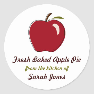 Apple Pie, From the Kitchen Of, Labels Round Sticker