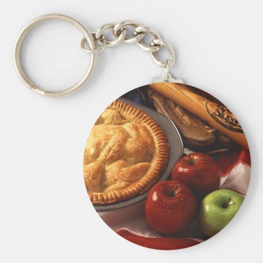Apple pie key chain