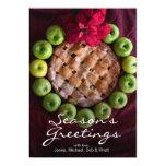Apple pie made to look like Christmas wreath Card