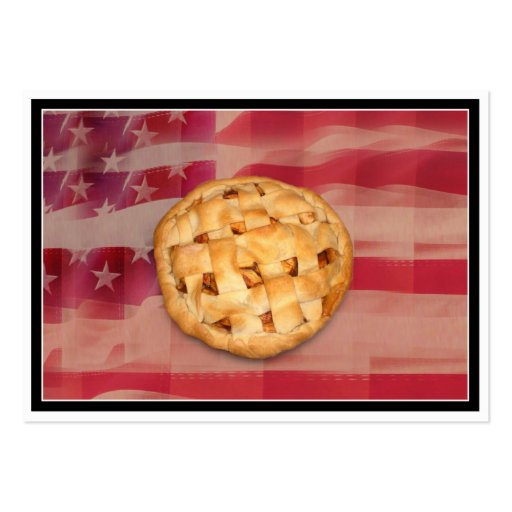 Apple Pie on Old Glory Business Card