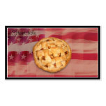 Apple Pie on Old Glory Business Card Template