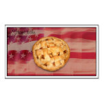 Apple Pie on Old Glory Business Cards