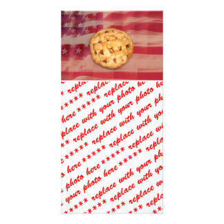 Apple Pie on Old Glory Personalized Photo Card