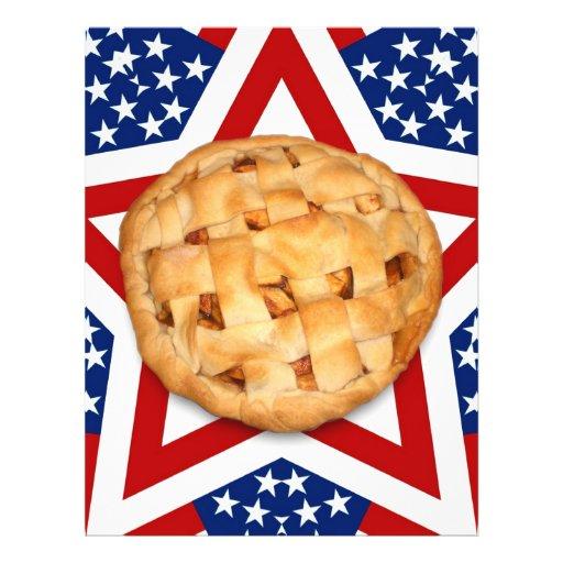 "Apple Pie on Stars & Stripes 8.5"" X 11"" Flyer"